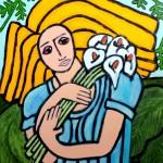 Deborah with Calla Lilies